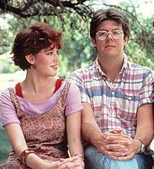 Molly Ringwald & John Hughes in 1985