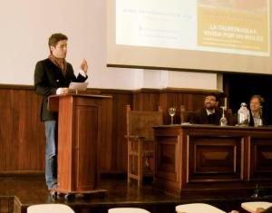 Lecturing on ethics and bullfighting at the University of Seville