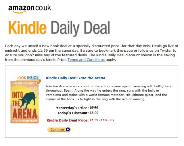 Sports Book Of The Year Shortlisted Bullfighting Book Amazon Kindle Daily Deal Today Only 1 59 The Pamplona Post