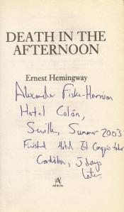 Hemingway dedicación