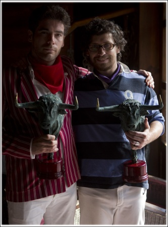 Me & Bill Hillmann with our awards in Cuéllar, September 2013 (Photo: Jim Hollander)