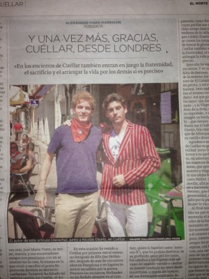 My thank you letter to Cuéllar in the regional newspaper. Click to read (in Spanish.)