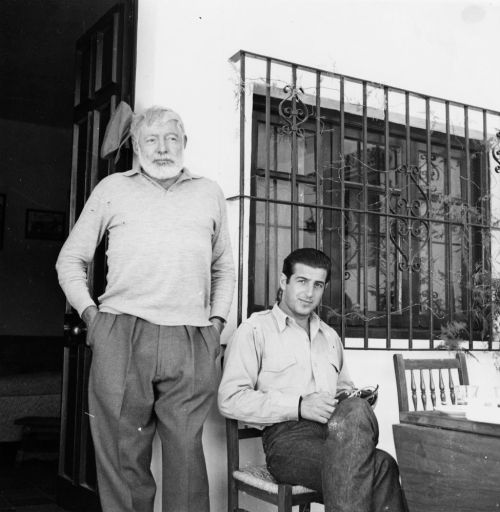 Ernest Hemingway and Antonio Ordóñez at the Finca El Recreo