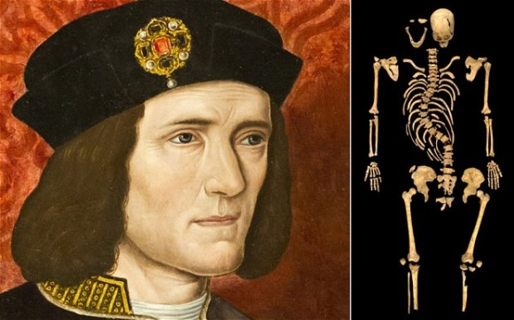 King Richard III, Duke of Gloucester, in portrait and remains...