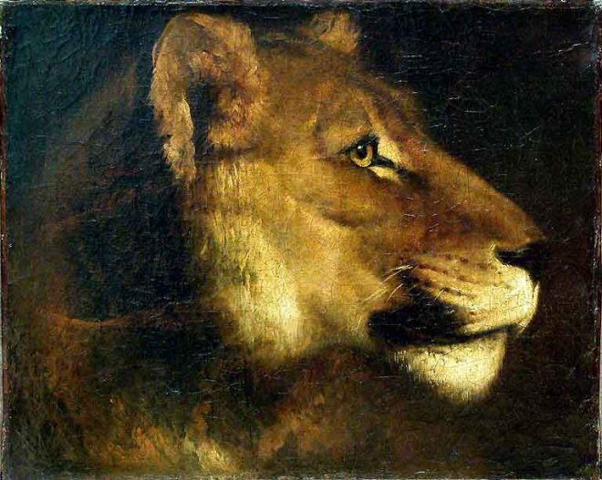 Head of a Lion, 1821, Théodore Géricault, courtesy of the Louvre