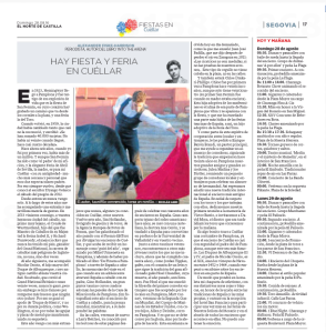 The article as it appeared. The photo is of me in my days as a bullfighter in 2010 by Nicolás Haro.